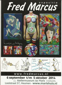 Affiche Fred Marcus tentoonstelling