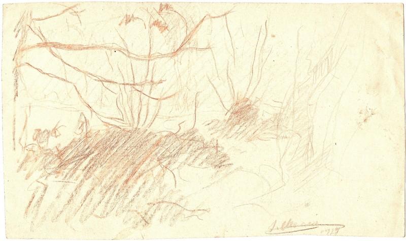 A-003 – 1923 Landschap bistre 131×224 sd