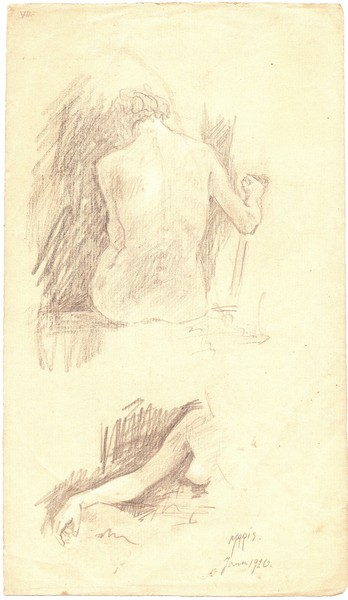 A-011 – 1926 Naaktstudie potlood 285×166 sd