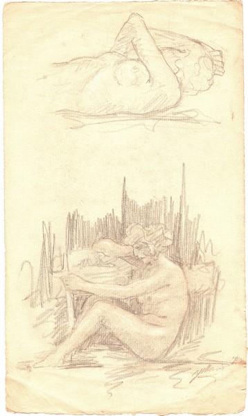A-012 – 1926 Naaktstudies potlood 287×168 sd papier a