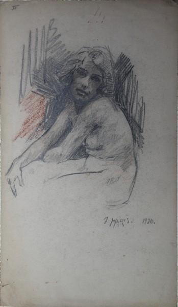 A-016 – 1926 Studie Willy zittend