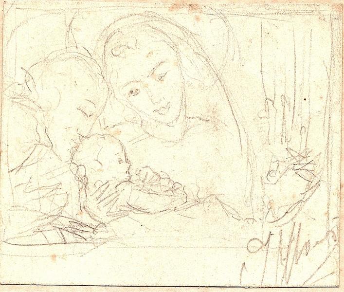 A-037 – Geboorte, potlood, 680×810