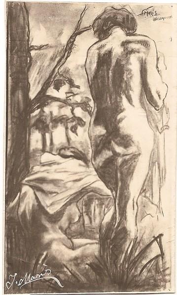 A-043 – Jac Maris beeldhouwer Twee Naakten
