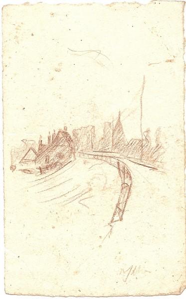 A-048 – Landschap potlood 128×80