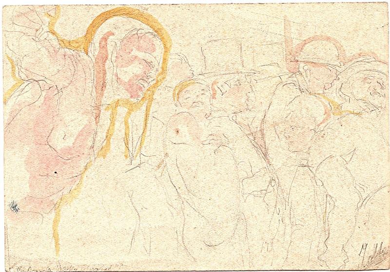 A-055 – Mensen potlood aquarel  83×120