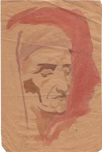 Dante in zelfportret Marisaquarel en potlood, 271x180, ges. ged. 1931 (B-003)