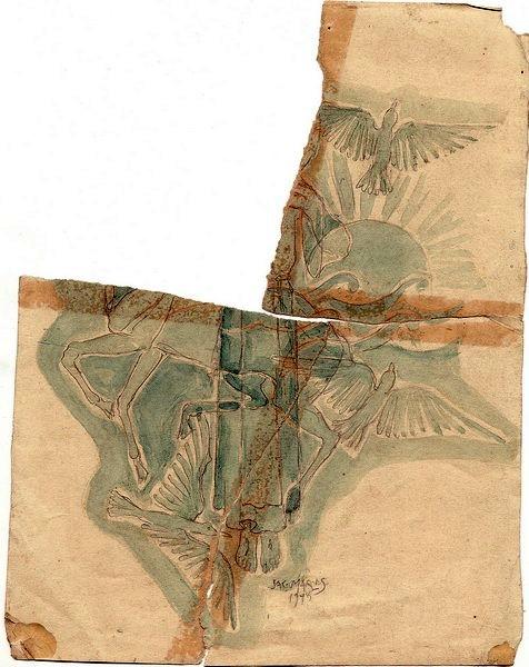 C-022 – 1945 Franciscus in de natuur potl aqua 240x184sd