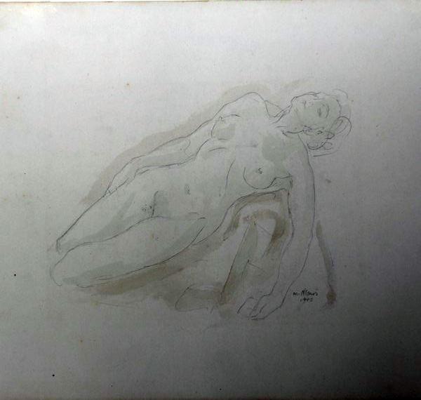 C-063 – Liggend vrouwelijk naakt