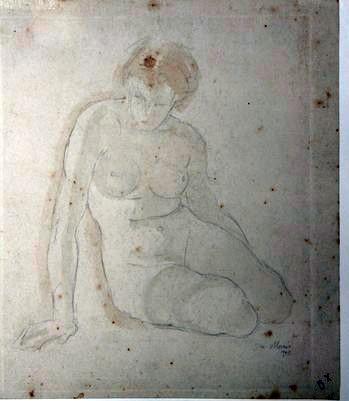 C-081 – Zittend vrouwelijk naakt 2