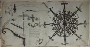 Studietekening, ges. ged. 1950 (D-001)