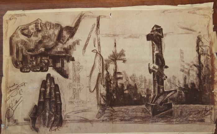 D-009 – 1953 Monument Jan van Hoof lichtdruk 75×123