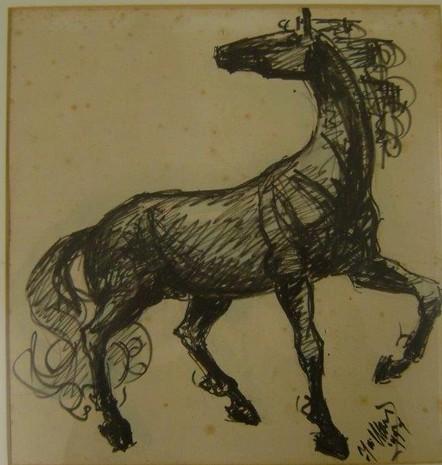 D-019 – 1954 paard tekening