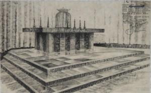 Ontwerptekening altaar (D-044)