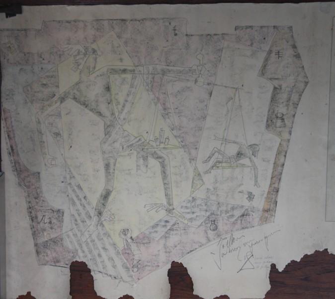 E-004 – 1962 Het IJkwezen Ontwerp voor figuren tweede ontwerp aangepast 734×825 mm