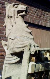 Detail leeuwenkop